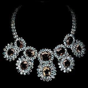 Jewelry - New 891 ct blue zircon, Quartz, silver SS necklace